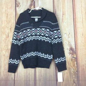 Shawl collar boys sweater